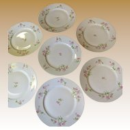 Lovely Set of Seven Redon French Limoges Dinner Plates