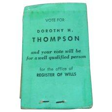 Circa 1950's Political Propaganda Stocking Repair Kit