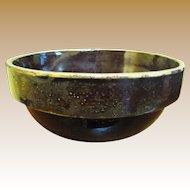 19th Century Stoneware Alkaline Glazed Bowl made in South Carolina or Near Regions