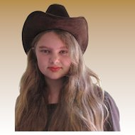 Cool Ranch Dressing Brown Felt Cowboy Hat