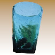 Pair of  Mexican Hand Blown Glasses, Beautiful Color!‏