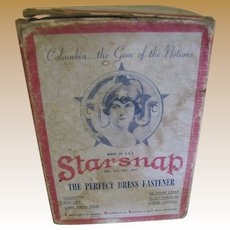 Nice Old Art Deco Starsnap Dress Fastener Box