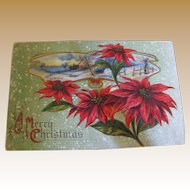 "1915‏, ""A Merry Christmas"" Embossed B.P.C. 284 Post Card"