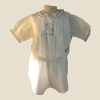 Charming Older Vintage Romper Suit for Doll