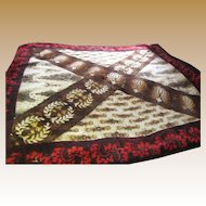 Victorian Chase Buggy Blanket, Great Abstract Design!