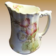 Beautiful Victorian Furnival Pitcher with Hand Painted Flowers