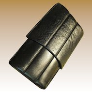Vintage Leather Three Cigar Case, Sturdy, Elegant, Great Condition