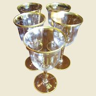 Set of Five Elegant Cambridge Wedding Band Water  or Large Wine Goblets