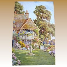 1885, An English House & Garden, Postcard Published by J Salmon, 1885‏