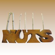 Fun and Useful Vintage Wooden Nut Pick Stand