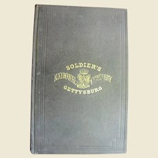 Soldier's National Cemetery Gettysburg 1864 Select Comittee Report Including  Abraham Lincoln's Address, Civil War, Rare, Near Mint