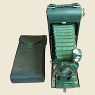 Antique Pocket Kodak Camera No. 1A with Carrying Case - Sparkling Green - Very Nice!