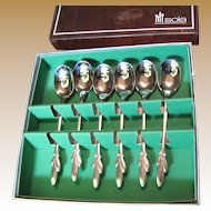 Super Set Of Sola Vintage Stainless Steel Demitasse Spoons, New In Box