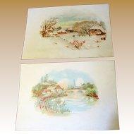 Pair of Advertising Postcards circa 1912 Hill Dental Co. Lancaster PA No.1..