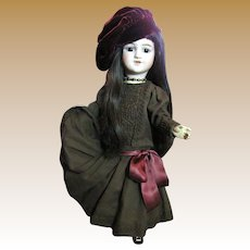 "Really Lovely Wool Challis Dress for 20"" Doll, Super Full Skirt!"
