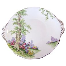 Loveliest Royal Albert Greenwood Tree Cake Plate
