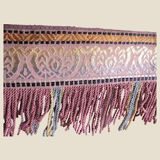 """1 Yd of Superb 10"""" Antique Fringe, Perfect for Footstools (6 Yds Available)"""