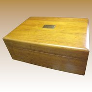 Elegant Hardwood Vintage Humidor, Excellent Condition!