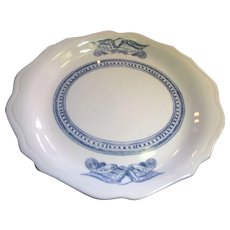 """11"""" Americana Syracuse """"Liberty"""" Blue Eagle Oval Restaurant Ware Plate / Platter (10 available)"""