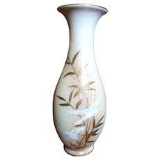 Beautiful Mid Century Japanese Porcelain Gilt Flying Crane Vase