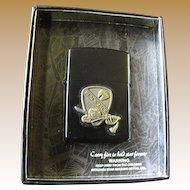 Star I Lighter with Black Jack Brigade Emblem, Unused in Box