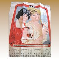 Original 1974 Coca Cola Advertising Linen Tea Towel