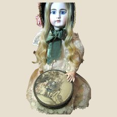 Beautiful Antique French Candy Box, Perfect for Doll Display