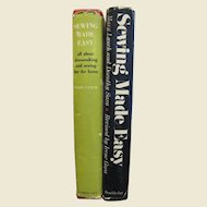 """Two """"Sewing Made Easy"""" By Mary Lynch, the 1952 & 1969 Editions"""