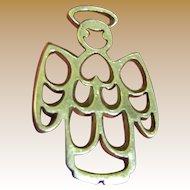 Vintage Sterling Angel Charm Pendant by JCF