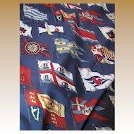 "88"" Remnant of Flag Design 10 Color Porch Fabric, Fun!"