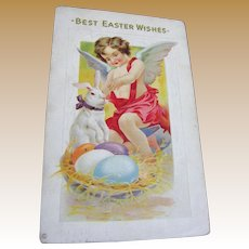 1914 Best Easter Wishes Post Card Embossed