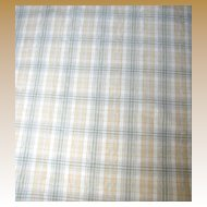 """46"""" Remnant of Classic Grosgrain Green and Yellow Woven Plaid"""