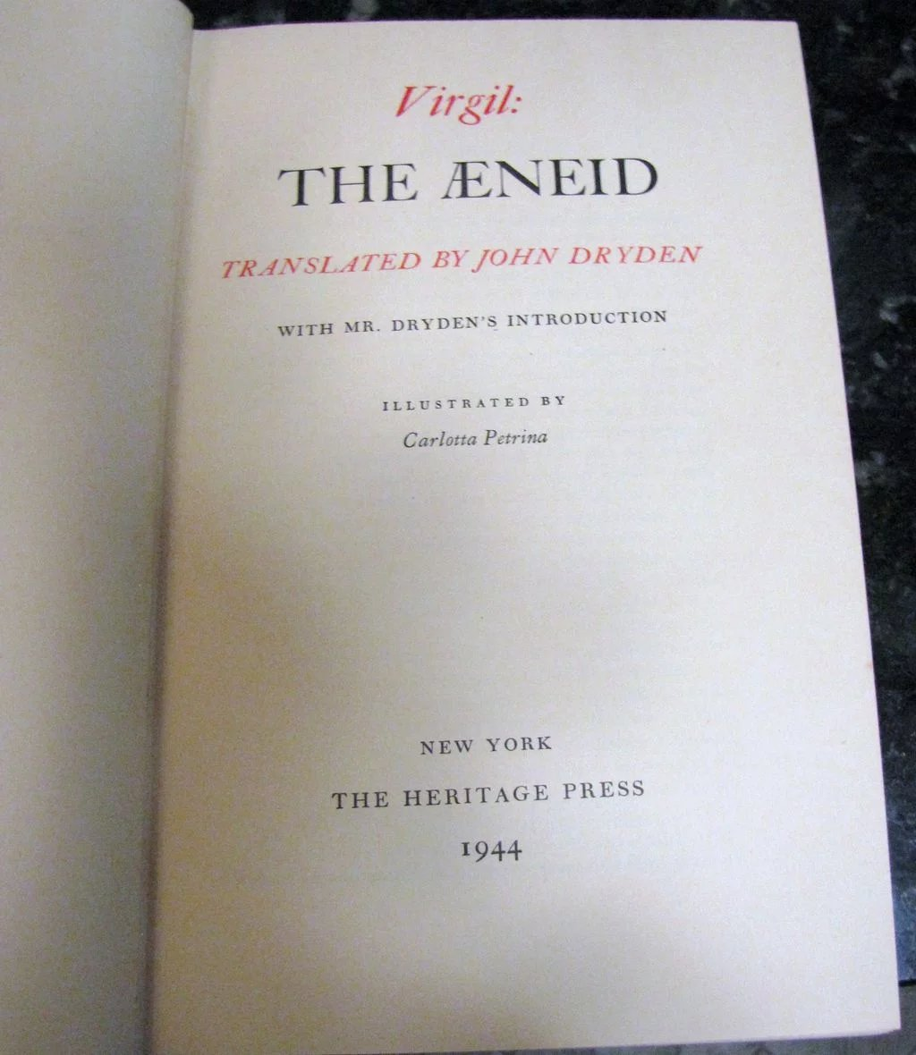 a plot summary of virgils epic the aeneid There are almost no scholastic references to the aeneid,  play, or epic poem in which a physical journey is  avoid mere plot summary throughout the aeneid,.