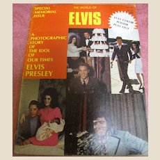 Vintage Magazine Back Issue The World Of Elvis Memorial Issue 1977