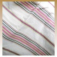 6 Yards of Heavy Woven Upholstery Fabric with Chenille Stripes