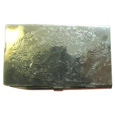 Nice Vintage Silver Plated Cigarette Paper Case