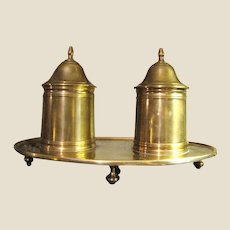 Mottahedeh Vintage Brass Double Cigarette Box. Wonderful Quality!