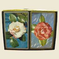 Vintage 606 Congress Playing Cards, Magnolia Flower, Two Deck Boxed Set‏