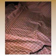 2 1/2 Yard + Bolt End of Terracotta Diamond Pattern Upholstery Fabric
