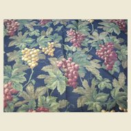 """Lovely 32""""  Remnant of Waverly 14 Color Screen Printed Fabric"""