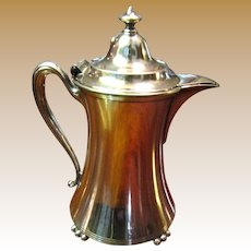 Small Antique Silver Quadruple Plated Covered Pitcher by Pairpoint