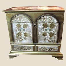Beautiful Vintage Florentine Musical Chest, Doll Perfect!