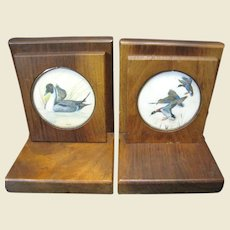 Great Duck Design Hardwood Vintage Bookends