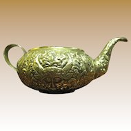 Hand Wrought Brass Devil Head Decorative Pot