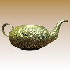 Hand Wrought Brass Devil Head Decorative Pot