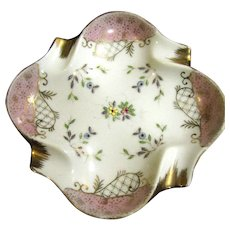 Pretty Hand Painted Gilt Vintage Ashtray