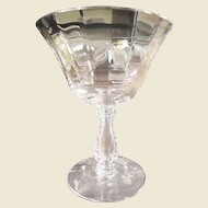 SIX Fostoria Low Sherbets in the Silver Flutes Pattern