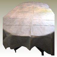 "88"" Lightweight Pure Linen Damask Tablecloth"