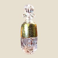 Exquisite Bohemian Cut & Gilt Lead Crystal Perfume Bottle