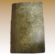 1812 German - American Evangelical Lutheran Magazine Leather Bound Rare Superb Condition For Its Age‏